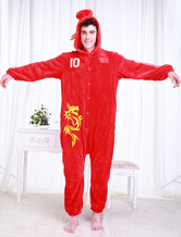 Anime Costumes AF-S2-654607 Kigurumi Pajamas World Cup Chinese Football Team Onesie Adults' Red Sleepwear Costume