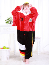Anime Costumes AF-S2-654625 Kigurumi Pajamas World Cup Germany Onesie Black And Red Football Theme Sleepwear Costume For Kids