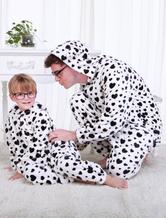 Anime Costumes AF-S2-654591 Kigurumi Pajamas Dalmatian Onesie Snuggie For Adult White Animal Sleepwear
