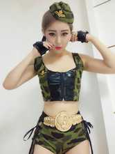 Anime Costumes AF-S2-654861 Sexy Cop Costume Camo Women's Outfit Halloween Policewoman Costume