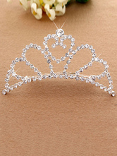 Anime Costumes AF-S2-654803 Silver Princess Tiara Ballet Dance Hair Comb Beaded Party Hair Accessories For Kids