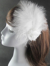 Anime Costumes AF-S2-654815 Ballet Dance Headpieces Women's White Feathers Hair Clip Dancing Accessories