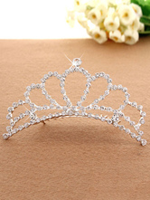 Anime Costumes AF-S2-654809 Silver Princess Tiara Ballet Dance Hair Comb Beaded Little Girls' Party Hair Accessories