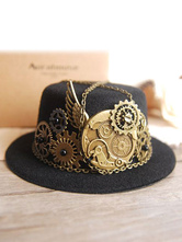 Anime Costumes AF-S2-654817 Steampunk Hat Black Halloween Vintage Costume Gear Chains Men's Costume Accessories