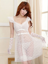 Anime Costumes AF-S2-654937 Sexy Bridal Lingerie Costume Outfit Sheerlace Dress For Women