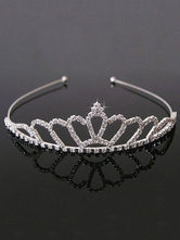Anime Costumes AF-S2-654813 Ballet Dance Tiara Silver Beaded Hairband Little Girls' Dancing Party Hair Accessories