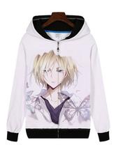 Anime Costumes AF-S2-655037 YURI!!! On ICE Yuri Plisetsky Cosplay White Hoodie