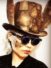 Anime Costumes AF-S2-654823 Bronze Steampunk Hat Halloween Vintage Top Hat Retro Costume Accessories