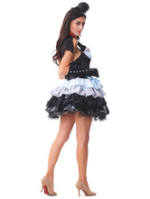 Anime Costumes AF-S2-654793 Halloween Demon Costume Women's Mardi Gras Cosplay Black Tiered Dress