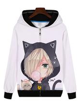 Anime Costumes AF-S2-655025 YURI!!! On ICE Yuri Plisetsky Cat Ear Anime Cosplay Costume Hoodie