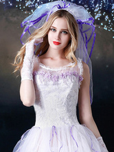 Anime Costumes AF-S2-654941 Sexy Bridal Lingerie Costume Outfit Halloween Women's White TUTU With Veil