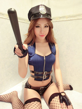 Anime Costumes AF-S2-654897 Sexy Cop Costume Blue Halloween Policewoman Costume