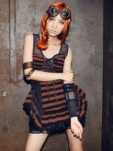 Anime Costumes AF-S2-654843 Steampunk Fingerless Gloves Vintage Lace Up Unisex Arm Warmer