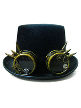 Anime Costumes AF-S2-654819 Steampunk Top Hat Black Vintage Chain Retro Costume Accessories