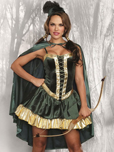 Anime Costumes AF-S2-654967 Sexy Fantasy Costume Outfits Straps Lace Up Ruffles Flare Dress With Cloak