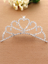 Anime Costumes AF-S2-654807 Ballet Dance Combo Tiara Silver Princess Hair Jewelry Beaded Kids' Party Hair Accessories