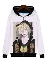 Anime Costumes AF-S2-655035 YURI!!! On ICE Yuri Plisetsky Cat Ear Anime Hoodie