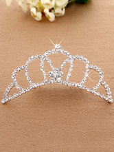 Anime Costumes AF-S2-654805 Silver Princess Tiara Ballet Dance Hair Comb Beaded Party Hair Accessories For Kids