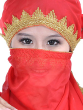 Anime Costumes AF-S2-655243 Belly Dance Veil Costume Red Chiffon Bollywood Dance Accessory