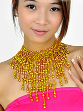 Anime Costumes AF-S2-655261 Gold Necklace Belly Dance Costume Bollywood Dance Jewelry Accessories For Women