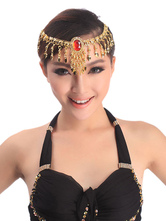 Anime Costumes AF-S2-655217 Belly Dance Costume Gold Rhinestone Bollywood Dance Jewelry Accessories In 2 Piece Set