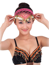 Anime Costumes AF-S2-655223 Headgear Belly Dance Costume Rose Red Net Metal Detail Bollywood Dance Accessories