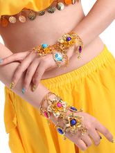 Anime Costumes AF-S2-655205 Bracelet Belly Dance Costume Gold Alloy Rhinestone Bollywood Dance Jewelry Accessories