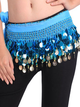 Anime Costumes AF-S2-655187 Belly Dancing Hip Scarf Blue Tiered Tassels Waist Chains Women's Belly Dance Costume Accessories