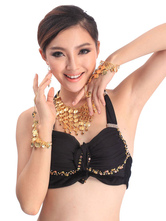 Anime Costumes AF-S2-655199 Belly Dance Bracelet Gold Tassels Tiered Slave Bracelet Jewelry Belly Dancing Finger Bracelet