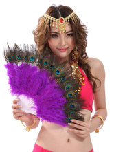Anime Costumes AF-S2-655215 Hand Fan Belly Dance Costume Purple Feather Bollywood Dance Accessories