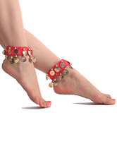 Anime Costumes AF-S2-655201 Anklets Belly Dance Costume Red Metal Detail Bollywood Dance Accessories