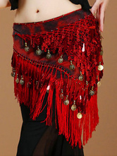 Anime Costumes AF-S2-655263 Belly Dance Costume Rose Red Polyester Bollywood Dancing Hip Scarf For Women
