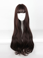 Sweet Lolita Wigs Long Curly Grey Synthetic Lolita Wig With Bang