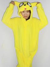 Anime Costumes AF-S2-657533 Kigurumi Pajama Dog Onesie Snuggie Yellow Flannel Animal Sleepwear For Women