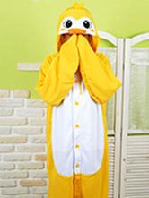 Anime Costumes AF-S2-657519 Kigurumi Pajama Penguin Onesie Snuggie Yellow Flannel Animal Sleepwear For Adult