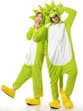 Anime Costumes AF-S2-657531 Kigurumi Pajama Monster Onesie Snuggie Green Flannel Anime Sleepwear Couple Costume