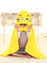 Anime Costumes AF-S2-657505 Yellow Kigurumi Costume Funny Emoji Snuggies Flannel Poncho Cape Adult Onesie Pajamas