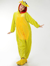 Anime Costumes AF-S2-657525 Kigurumi Pajama Dragon Onesie Snuggie Yellow Flannel Animal Sleepwear For Adult