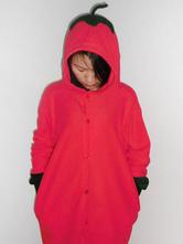 Anime Costumes AF-S2-657521 Kigurumi Pajama Pepper Onesie Snuggie Red Flannel Plant Sleepwear For Adult