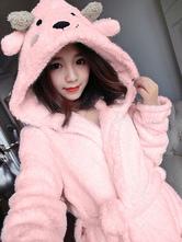 Anime Costumes AF-S2-657517 Kigurumi Pajama Sheep Onesie Snuggie Pink Flannel Animal Sleepwear For Adult