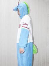 Anime Costumes AF-S2-657523 Kigurumi Pajama Dinosaur Onesie Snuggie Blue Flannel Animal Sleepwear For Adult