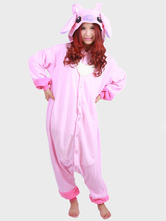 Anime Costumes AF-S2-657549 Kigurumi Pajama Stitch Onesie Pink Flannel Sleepwear For Adults