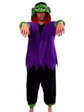 Anime Costumes AF-S2-657527 Kigurumi Pajama Frankenstein Onesie Snuggie Purple Flannel Movie Sleepwear For Men