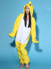 Anime Costumes AF-S2-657543 Kigurumi Pajama Chicken Onesie Adults' Yellow Flannel Animal Sleepwear