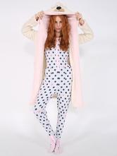 Anime Costumes AF-S2-657513 Kigurumi Pajama Bear Onesie Snuggie White Flannel Animal Sleepwear For Adult