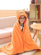 Anime Costumes AF-S2-657493 Adult Onesie Pajamas Kigurumi Otaku Umaru Costume Orange Snuggie Flannel Poncho Cap Blanket