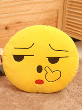 Anime Costumes AF-S2-658331 Pick The Nose Smiley Emoticon Pillow Cushion Yellow Plush Pillow