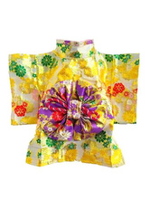Anime Costumes AF-S2-659839 Dog Kimono Costume Halloween Yellow Floral Pet Costume
