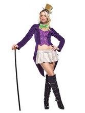 Anime Costumes AF-S2-659819 Circus Ringmaster Costume Women's Halloween Purple Lion Tamer Costume Outfit