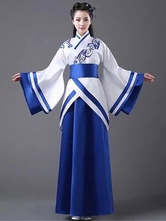 Anime Costumes AF-S2-659811 Halloween Chinese Costume Women's Royal Blue Ancient Hanfu Costume